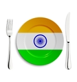 Plate with flag of India vector image