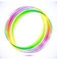 Rainbow abstract circle frame vector image