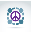 Round antiwar icon no war symbol People of the vector image vector image