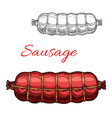 sausage sketch meat icon vector image vector image