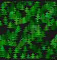 seamless abstract random pine tree pattern vector image vector image