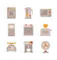set of household appliances icons and concepts in vector image vector image
