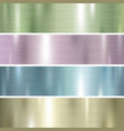 set pastel color metal texture background vector image