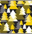 simple cool geometric christmas tree pattern vector image vector image