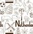 Sketch Netherlands seamless pattern vector image vector image
