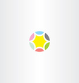 star colorful circle icon vector image