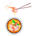 Thai Sour Soup with Prawns or Tom Yum Goong vector image vector image