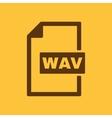 The WAV icon File audio format symbol Flat vector image vector image