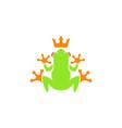 tree frog logo vector image vector image