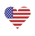 united states flag with heart vector image vector image