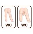 WC Gender symbols vector image vector image