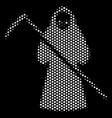 white dot death scytheman icon vector image