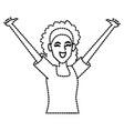 woman happy cartoon vector image vector image