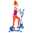 Woman making exercises vector image vector image