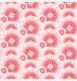 beautiful pink flower seamless pattern vector image