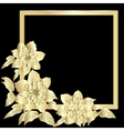 Gold terry clematis vector image