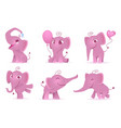 adorable elephants cute and funny happy african vector image