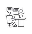 analytics department line icon concept analytics vector image vector image