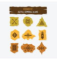 aztec symbol cut icons set on gray background vector image vector image