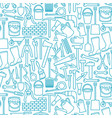 background pattern with garden tools icons vector image vector image