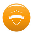 badge element icon orange vector image vector image