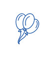 balloons line icon concept balloons flat vector image