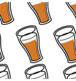 beer or ale scottish drink in glass seamless vector image