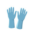 blue latex gloves isolated on vector image vector image