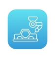 Car production line icon vector image