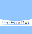 casual people group standing together man woman vector image