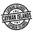 cayman islands black round grunge stamp vector image vector image