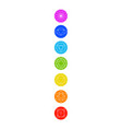chakra icons with respective colors vector image