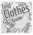 cheap clothing Word Cloud Concept vector image vector image