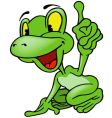 cheerful frog vector image vector image