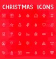 Christmas Outline Icons vector image vector image
