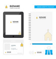 church business logo tab app diary pvc employee vector image vector image