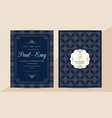 classic vintage wedding invitation card with vector image vector image
