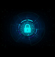 closed padlock on futuristic background vector image vector image