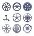 collection machine gear vector image vector image