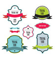collection of labels and ribbons design elements vector image vector image