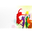 Dancing Colorful Girls vector image