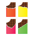 dark chocolate bars vector image