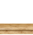 Empty table of light brown wooden planks vector image