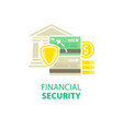 financial security icon vector image vector image