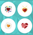 flat icon amour set of emotion scrambled vector image vector image
