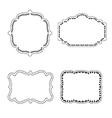 Frame labels Set ornamental vintage decoration vector image vector image