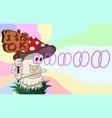 funny cartoon amanita hypnotizes vector image vector image