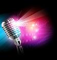 glow mic vector image vector image