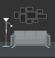 gray interior living room vector image