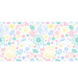 happy easter doodle seamless pattern with egg vector image vector image